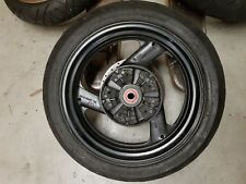 XJR 1300 SP 1999 REAR WHEEL WITH TYRE CUSH DRIVE RUBBERS & BRAKE DISC DISK