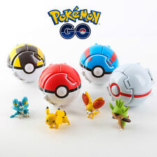 1x 7CM Bounce Pokemon Pikachu Pokeball Pop-up Elf Go Fighting Poke Ball Toy Kids