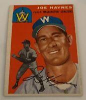 1954 Topps # 223 Joe Haynes Baseball Card Washington Senators