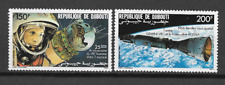 DJIBOUTI N°231/232 PA ESPACE 1986 NEUF ** LUXE TOP AFFAIRE !!!!!!!!!