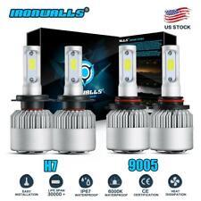 Combo H7+9005 LED Headlight Bulbs For Mazda 3 2007-2009 Mazda 6 11-13 Hi/Lo Beam