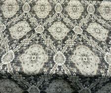 P Kaufmann Carpet Heirloom Onyx Black Jacquard Fabric By The Yard