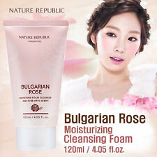 NATURE REPUBLIC Bulgarian Rose Moisture Foam Cleanser 120ml / Korea Cosmetic