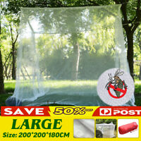 Large White Camping Mosquito Net Indoor Outdoor Insect Netting Tent Storage  !