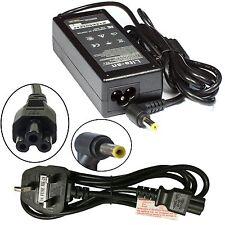 Portátil De Reemplazo Cargador para Acer Ferrari One 200 con cable de alimentación libre de Reino Unido