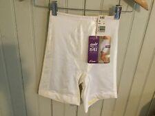 Nwt Bali Pantie high waist long leg white girdle size 5 small