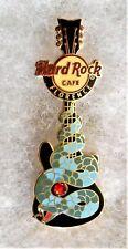 HARD ROCK CAFE FLORENCE BLUE SNAKE GUITAR WITH RED GEM PIN # 72137
