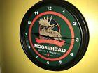 Moosehead Canada Beer Bar Tavern Advertising Man Cave Clock Sign