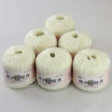6ballsx50g New Soft Hand Cotton Lace Wool Yarn Crochet Shawl Scarf Knitting 19