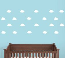Peel and Stick Clouds, Wall Decals, Nursery Decals, Set of 40 Cloud Stickers