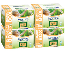 Moltex Size 3 Jumbo 4 x 80 Nappies, 320 nappies. Eco friendly disposable nappies