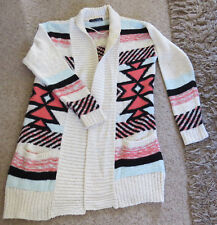 STUNNING AZTEC PRINT CARDIGAN-COATIGAN WITH POCKETS ATMOSPHERE SIZE 12 BNWOT