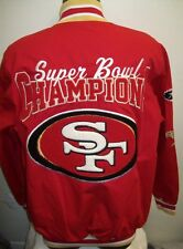 SAN FRANCISCO 49ERS SUPER BOWL 6 Time Championship Cotton Jacket RED M L XL