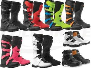 Thor Blitz XP MX Riding Boots Adult & Youth Sizes Off-Road ATV Motocross Dirt