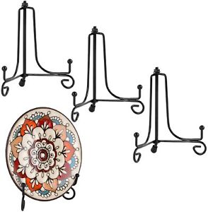 Plate Holder Stand Display 4 In Iron Easel Metal Frame Pictures Decorative 4 Pcs