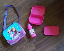 Disney Trinkflasche Brotdose Brotbüchse  Aluflasche Set Flasche Frozen Anna Elsa