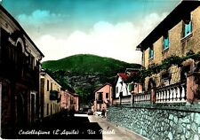 ITALIE - CASTELLAFIUME - L'AQUILA - VIA NAPOLI - CARTE VOYAGEE.