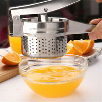 Potato Manual Squeezer Stainless Steel Masher Lemon Fruit Citrus Press Juicer