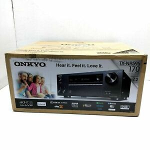 ONKYO TX-NR595 Smart Home AudioVideo Receiver Dolby Atmos Enabled 4K UHD AirPlay