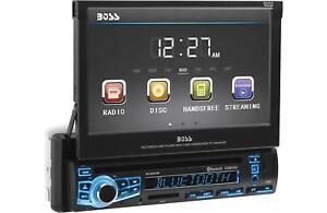 "Boss BV860B Single-DIN Car DVD Player 7"" Motorized Touchscreen Bluetooth Stereo"