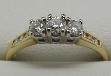 SOLID 18CT YELLOW & WHITE GOLD DIAMOND ENGAGEMENT/DRESS RING VALUE $2180