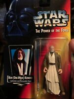 1995 STAR WARS POTF ORANGE CARD - OBI-WAN KENOBI ACTION FIGURE. NEW
