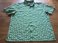 Columbia Men's Green Plaid Short Sleeve Button Up Shirt Size XXL EUC
