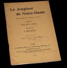 jongleur de Notre-Dame livret seul Léna 1937 Massenet