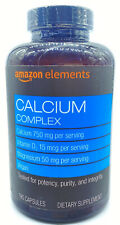 Amazon Elements Calcium 500mg plus Vitamin D & Magnesium One Daily, 195 Tablets