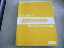 SUZUKI GS500E GENUINE SERVICE MANUAL NOS 99500-34061-01E