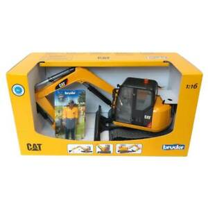 Bruder Toys CAT Mini Excavator with Worker Vehicle 2467