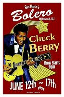 CHUCK BERRY 1957  Wildwood NJ Bolero Nightclub  Poster by THouse 2017