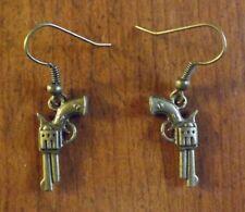 Boucles d'oreilles bronze pistolet 11x21 mm