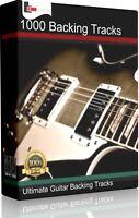 1000 PRO ROCK POP GUITAR BACKING TRACKS COLLECTION JAM TRACKS KARAOKE