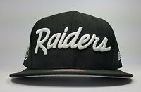 Los Angeles Raiders New Era 9Fifty Vintage Script NWA Eazy Logo Snapback Hat Cap