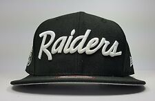 d3e2f27fe03 Los Angeles Raiders New Era 9Fifty Vintage Script NWA Eazy Logo Snapback  Hat Cap
