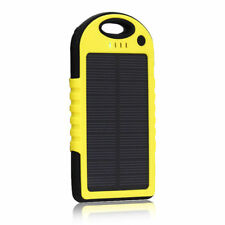 SoLar Ladegerät mit Akku Batterie Battery für Handy iPhone Samsung HTC LG Gelb/S