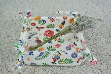 Quimper Design Fabric Folding Bread Basket