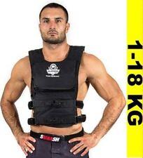 BUSHIDO Gewichtweste Trainingsweste Joggingweste Fitnessweste -  Gürtel  1-18 kg