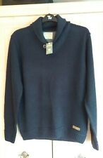 MENS NEW NAVY BLUE JUMPER/PULLOVER FROM BURTON MENSWEAR IN A SIZE LARGE