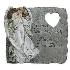 Memorial Stepping Stone Forever W/ The Angels Garden Grave Yard Sculpture Decor