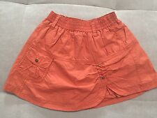 $80 Catimini France Skirt 3T Orange With Beads Flower Excellent Condition