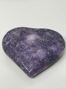 NEW, LAGE LEPIDOLITE HEART.  CRYSTAL, HEALING, SOOTHING, TRANSITION, 181g (4)