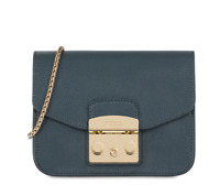 NWT Furla Metropolis Mini Crossbody Bag Ardesia E 978167