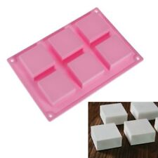 6 cell CUBE / SQUARE Mini Wedding Cake Silicone Bakeware Mould Mold Chocolate UK