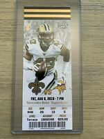 2019 New Orleans Saints Official NFL Mint Season Ticket Stub - pick any game!