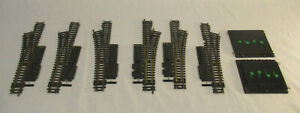 HO Scale Atlas Switches - 3 Left - 3 Right - 2 Selectors