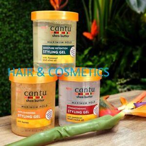 Cantu Shea Butter Styling Hair Gel Maximum Hold 524gm-No Alcohol-Free UK Post!!!