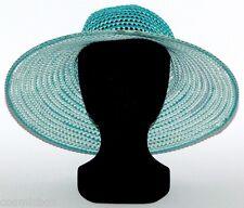 CHAPEAU habillé réversible tailles S / M femme été soleil vert French green hat
