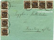 Brief-Vorderseite MeF Infla Waldmössingen n Jegglin & Kaltenbacher Konstanz 1923